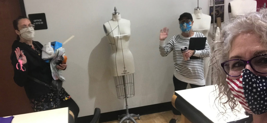 Mask making at the ACC Fashion Design Department
